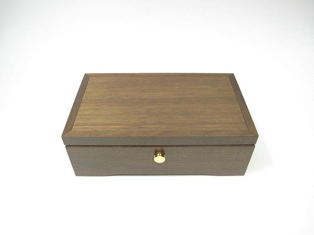 50弁最高級木製BOX(ウオールナット)506