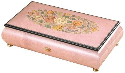 50弁最高級木製BOX(イタリア象嵌)ピンクつやあり