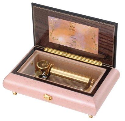 50弁最高級木製BOX(イタリア象嵌)ピンクつやあり2