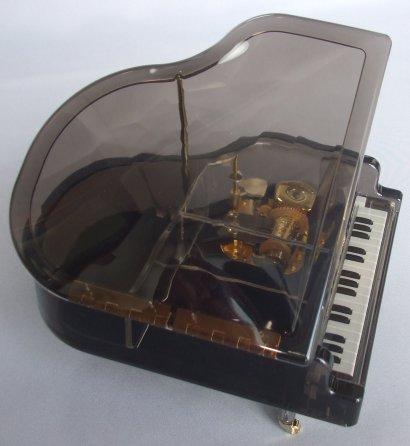 18弁在庫曲アクリルピアノ(黒)