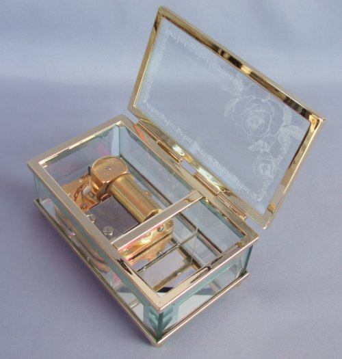 30弁高級バラ柄ガラスBOX